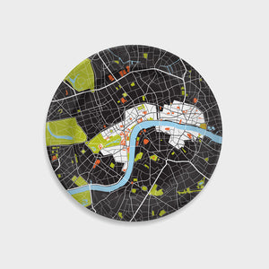 London City Map Plate