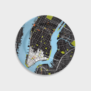 New York City City Map Plate