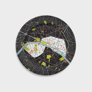 City Map Plate Paris