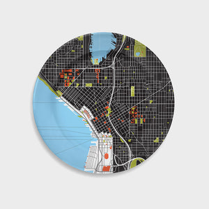 City Map Plate Seattle