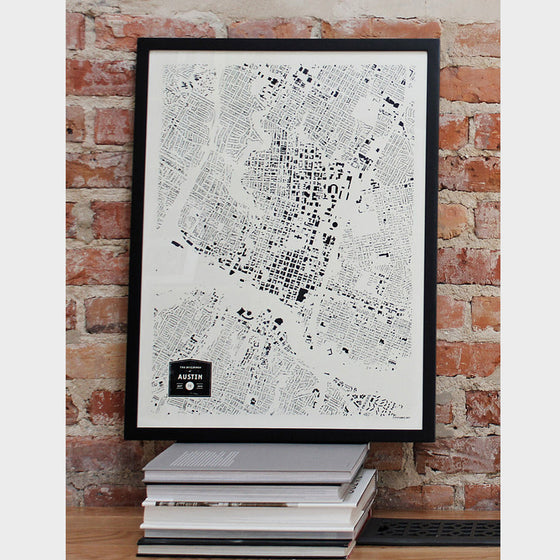 Austin City Map Poster