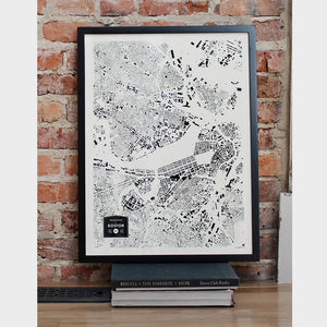 Boston City Map Poster