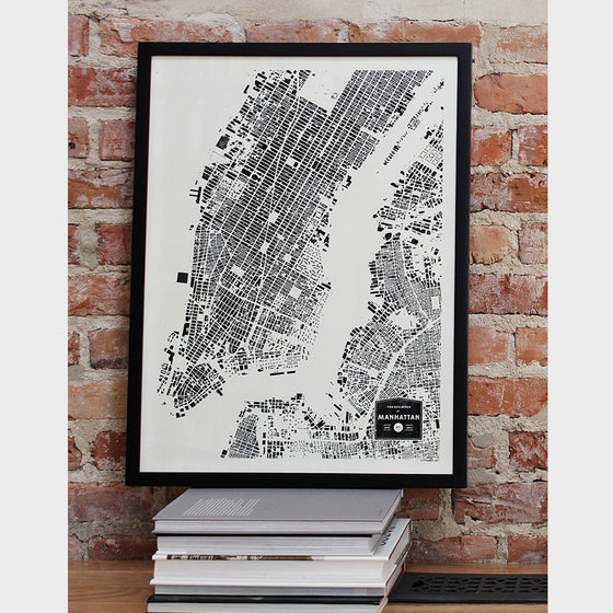 New York City City Map Poster