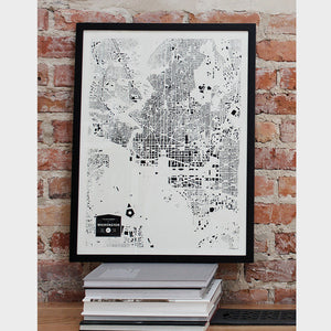 Washington DC City Map Poster