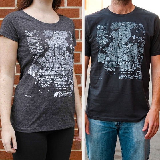 City T-Shirt on Two Models