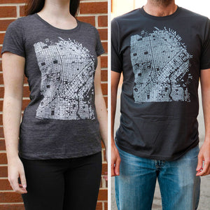 San Francisco City T-Shirt on Two Models