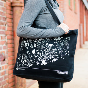 City Map Tote Detriot on Model