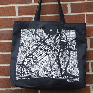 City Map Tote Los Angeles Against Brick Wall