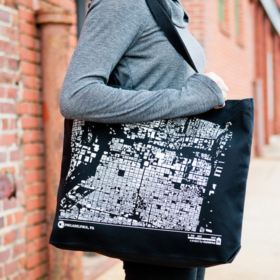 City Map Tote Philadelphia on Model