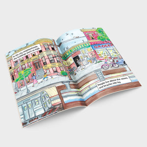 Where Things Are From Near to Far - Urban Planning Children's Book Inside Pages