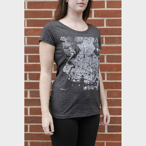 Fitted City T-Shirt on Model Side View