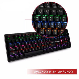 Russian/English Mechanical Keyboard + Mouse Set | Blue Switch | 87 / 104 Keys