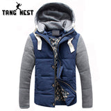 TANGNEST Hot Selling 2017 Men's Fashion Simple Casual Warm Coat Jacket Detachable Cap High Quality Plus Big Size M-5XL MWM347 - Offy'z6