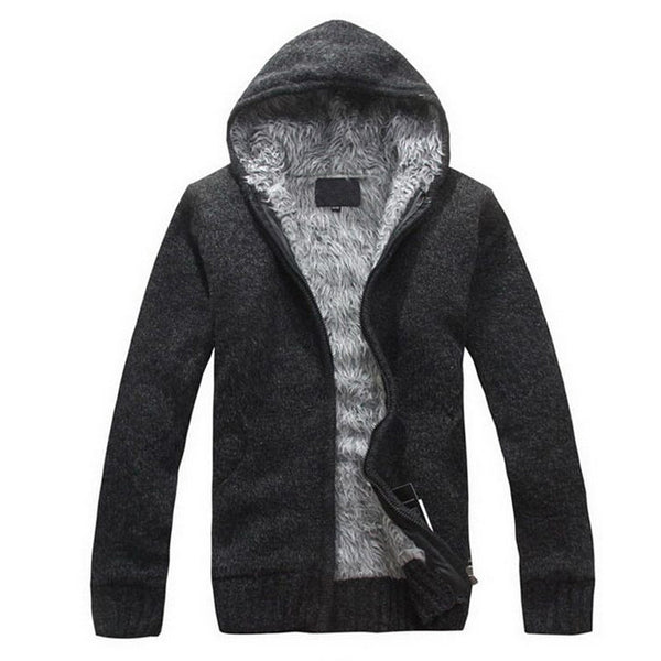 Fur Lining Thicken Casual Hoodie