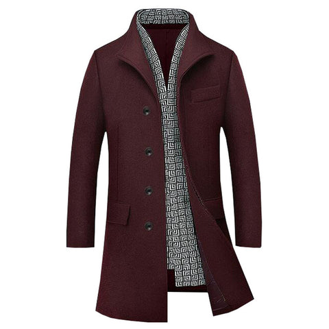 Long Stretch Turn-Down Collar Fashion Coat  - Plus Size M-4XL 4