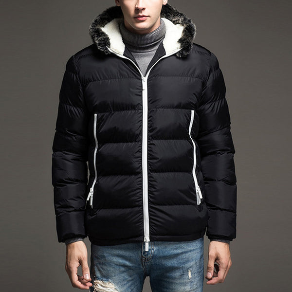 Windbreaker Spliced Hooded Jacket