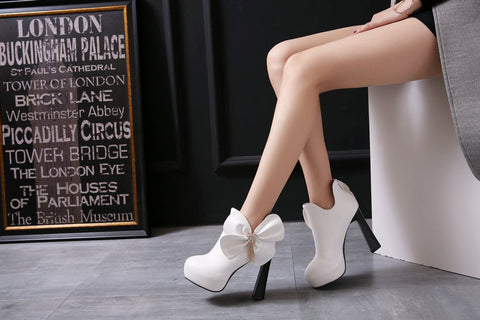 Bow Tie Elegance Heel Ankle wear