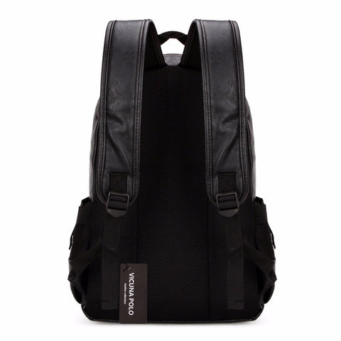 Eloquent Style Leather Backpack