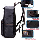 Casual  Leather Zipper'z Backpack - Offy'z6