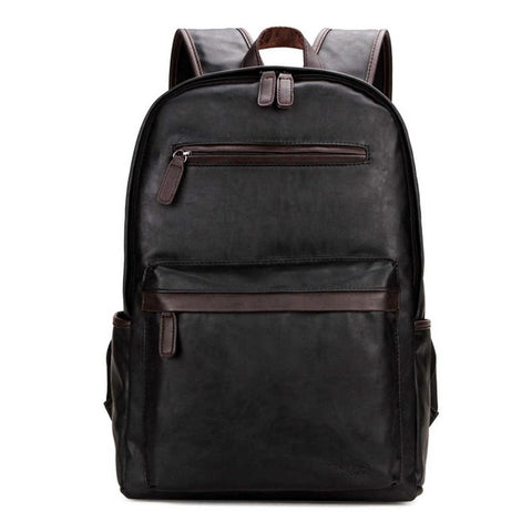 Casual  Leather Zipper'z Backpack