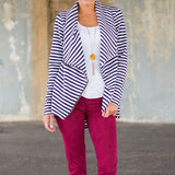 Striped Fashion Coat - Offy'z6