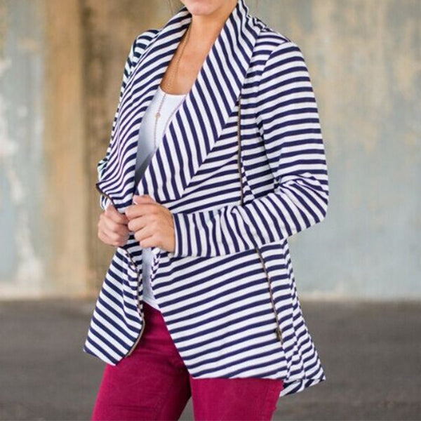 Striped Fashion Coat