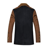 Solid Blends Casual Double Breasted Coat - Offy'z6