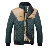 TANGNEST 2017 Patchwork PU Description Winter Cotton Padded Men's Coat High Quality Outwear Warm New Jacket Male MWM824 - Offy'z6