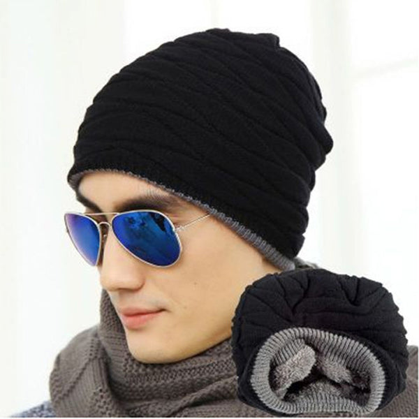 Men's Sweater Hat & Velvet