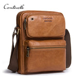 Genuine Cowhide Leather  Cross Body Messenger Bag - Offy'z6