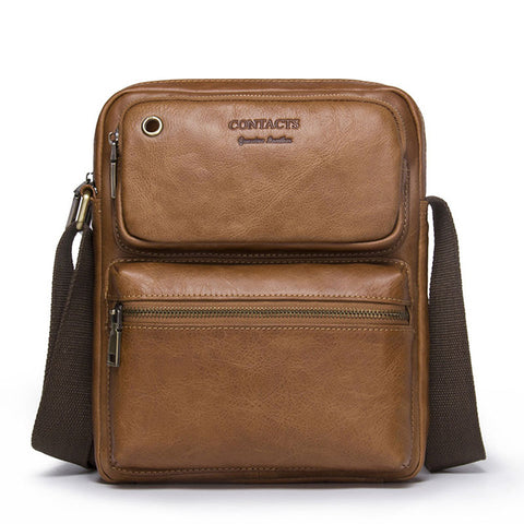 Genuine Cowhide Leather  Cross Body Messenger Bag