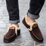 Plush Slip On Men's Breathable Shoes - Offy'z6