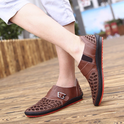 Breathable Mesh Holes Loafers