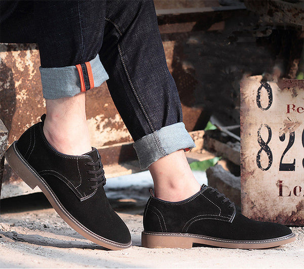 Winter Suede Leather Men's Flat Shoes