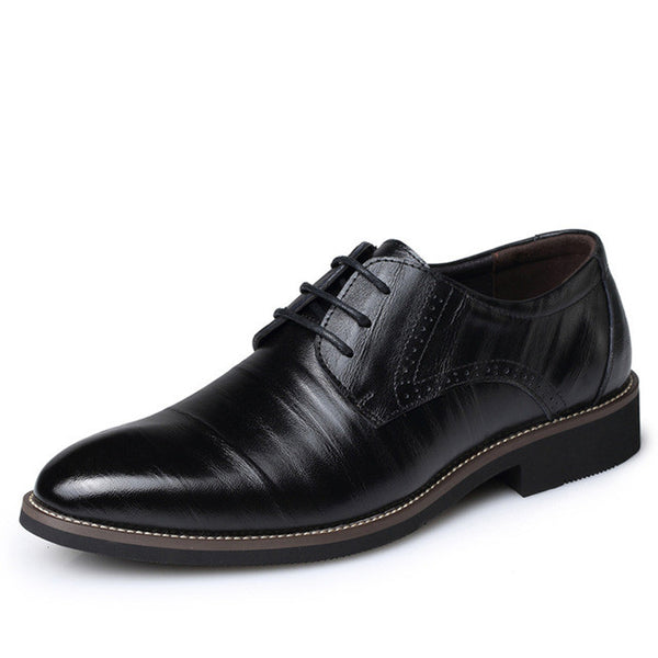 Genuine Leather Brogues Shoes Lace-Up Oxfordz