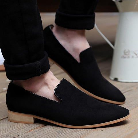 Vintage Leather Men's Flats Casual Loafers
