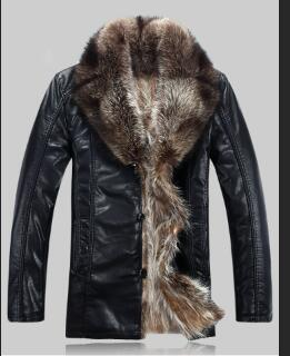 Winter Coat Mink Fur Liner Genuine Leather Jacket