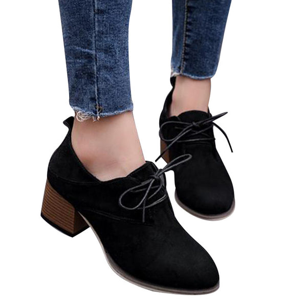 Woman's Lace-up High Heels
