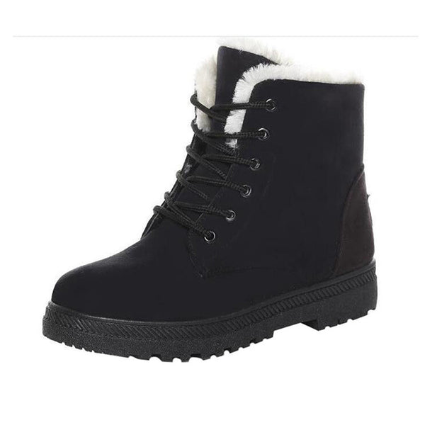 Lace-up British Style Women's Boots