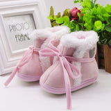 Toddler Newborn Baby winter shoes Bear Print Soft Sole Boots Prewalker Warm Shoes baby boots drop ship - Offy'z6