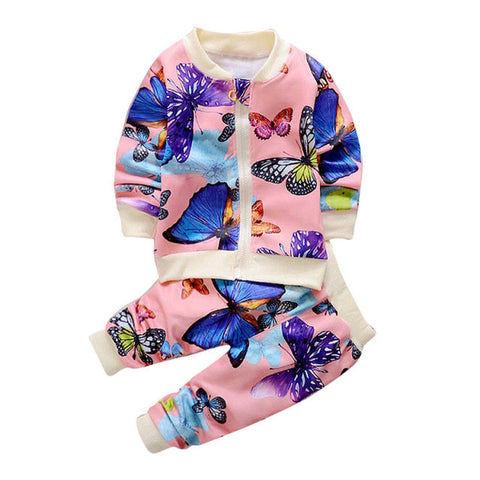 2pcs Kids Girls Outwear