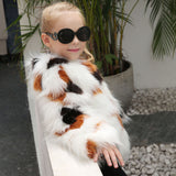 Girl's Winter Faux Fur Coat - Offy'z6