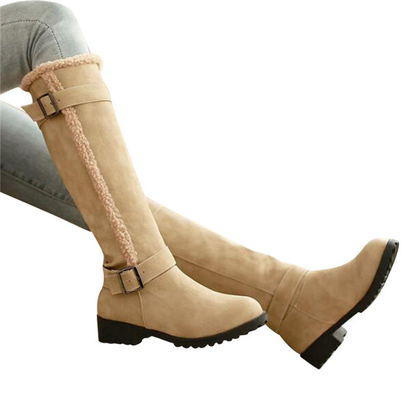 Lambswool Women's Knee-High Boots