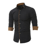 Long Sleeve Slim Fit Formal Dress Shirt - Offy'z6
