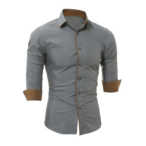 Long Sleeve Slim Fit Formal Dress Shirt
