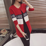 Patchwork Knitted Women's Sweater - Offy'z6