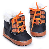 Winter Warm Toddler Baby Boy Girl Tie shoelaces Boots Soft Sole Boots Prewalker Warm Shoes Plus cashmere Non-slip shoes boots - Offy'z6