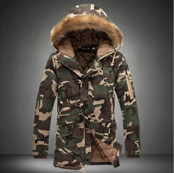 Large Size Winter Camouflage Coats