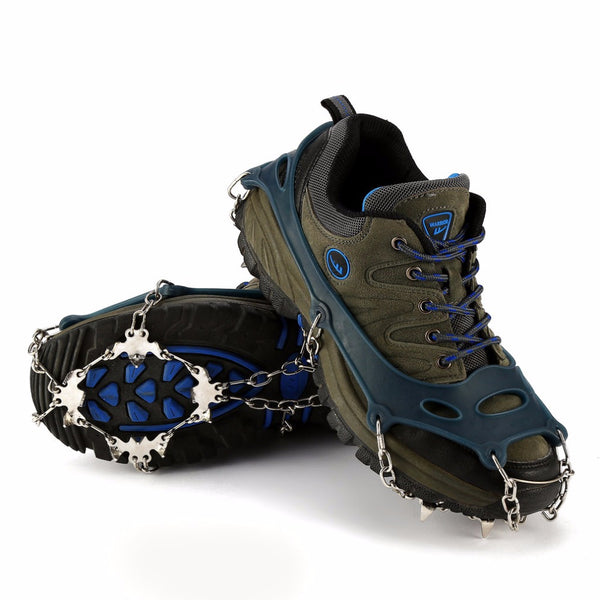 Non-Slip Snow Ice Crampons Shoes Chain Cleat