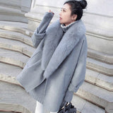 Elegant Women'z Faux Fur Collar Fashion - Offy'z6